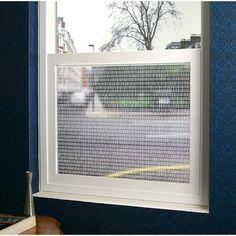 "Odhams Press Bits and Bytes Sheer Window Film Size: 48"" x 84"""
