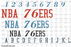 NBA font, aka Philadelphia font is a fancy, old-school font designed by Eriq P. NBA font is free for both personel and commercial usages. Old School Fonts, Philadelphia, Nba, Philadelphia Flyers