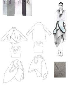 Fashion Sketchbook - fashion design drawings; fashion portfolio layout // Emma Berry