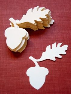 30 Diecut Paper Acorn Silhouettes by OpenDrawer on Etsy