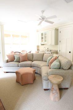 Terrific furniture decor: curved sofa australia how curved conversation sof Living Room Colors, Living Room Decor, Living Rooms, Living Area, Curved Couch, Conversation Sofa, Entertainment Room, Furniture Decor, Family Room
