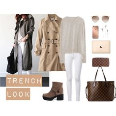 Taupe trench look