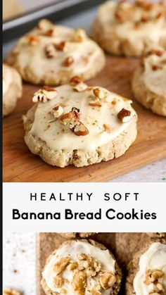 Healthy Cookie Recipes, Healthy Cookies, Yummy Cookies, Healthy Baking, Vegan Desserts, Healthy Desserts, Just Desserts, Real Food Recipes, Baking Recipes