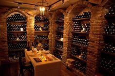 Italian wine cellar.
