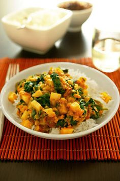 Spinach chana dhal. Top Recipes, Indian Food Recipes, Ethnic Recipes, Recipies, Vegetarian Day, Vegetarian Recipes, Dhal Recipe, Vegan Dishes, Vegan Food