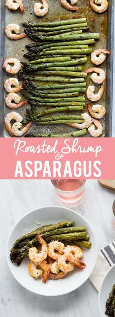 This Roasted Shrimp and Asparagus is a quick one sheet pan meal!