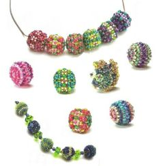 Beaded Beads PATTERNS for all shown