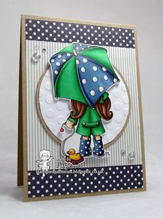 Blue and Green Rayne - Stampin Fluffnstuff