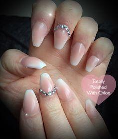 Ombré fully sculpted acrylic nails