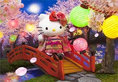Hello Kitty Night Cherry Blossom 3D Lenticular Greeting Card / 3D Postcard #Sanrio #JapanCherryBlossom #Birthday