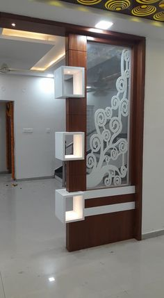 90 incredibly genius apartment decorating hacks for renters 27 Room Partition Wall, Living Room Partition Design, Living Room Tv Unit Designs, Pooja Room Door Design, Room Partition Designs, Living Room Divider, Wood Partition, House Ceiling Design, Ceiling Design Living Room