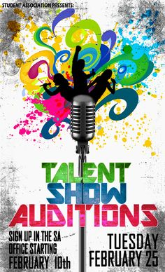 promo poster for talent show on behance more