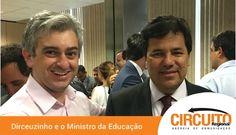 PREFEITO DIRCEUZINHO PEDE PACOTE DE OBRAS AO MINISTRO DA EDUCAÇÃO