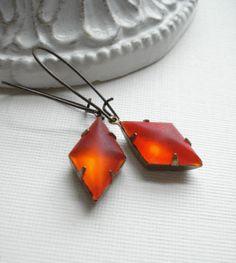 Red Dangle Earrings Christmas Earrings Hyacinth by AnechkasJewelry, $15.50