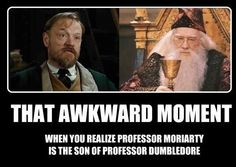 lol wut?  I don't think Dumbledore has kids, do I need to watch the first two films again to figure out where the hell this is coming from?