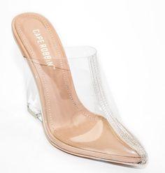74f615e72f5 Cape Robbin Clear Closed Toe Wedge Pump Pointy Mule Slide Slip On Women s  Shoes