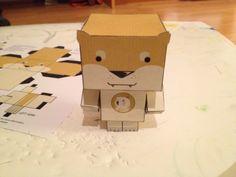 Papercraft doge for dogecoin on muchmarket.com