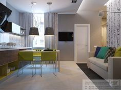 small and futuristic apartments for new family
