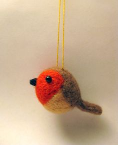 Bird Ornament Needle Felted