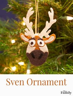 Is Frozen near and rein-dear to your family's heart? Celebrate the magic this holiday season by crafting this fun, decorative version of Kristoff's best pal, Sven. It's the perfect ornament for any Christmas tree!