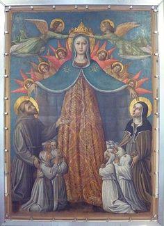 Niccolo Alunno - Madonna della Misericordia - 1462 - Pinacoteca Comunale, Palazzo Vallemani, Assisi (PG)