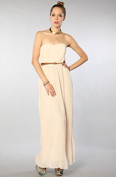 The Pleated Sweetheart Maxi Dress by Blaque Label