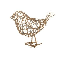 Large brass scribble bird by Lazy Susan.