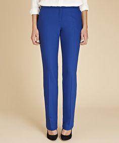 Love this Cobalt Blue Audley Wool-Blend Straight-Leg Pants by Baukjen on #zulily! #zulilyfinds