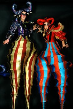 awesome stilt costumes!