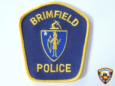 Brimfield Police. View more patches at http://www.publicsafetypatches.org.