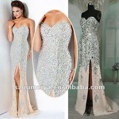 Omg, gorg! PD045 strapless crystal encrusted sparkle sequin bling mermaid styles evening prom dresses