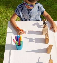Neat idea for exploring light and shadow on a sunny day