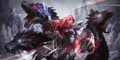 Dragon Raider , Alice Rose on ArtStation at https://www.artstation.com/artwork/BYWJm