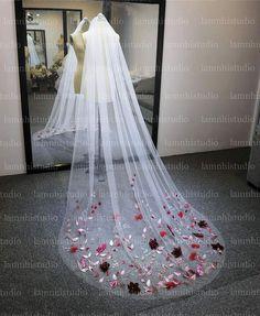 Flower Veil, Wedding Veil, Ribbon, Flowers, Tape, Treadmills, Royal Icing Flowers, Florals, Flower