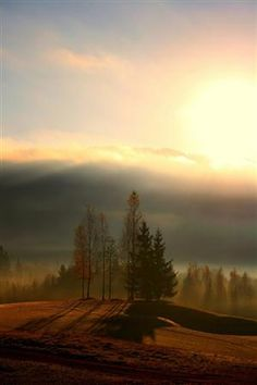 Sunrise in Lier, Buskerud County, Norway.