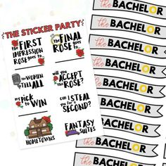 14 Ways to Throw an Epic Bachelor Finale Watch Party via Brit + Co Bachelor Premiere, The Bachelor Tv Show, Framed Chalkboard, Wedding Cakes With Flowers, Reality Tv Shows, Party Guests, Party Accessories, Party Themes, Party Ideas