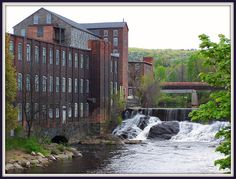 Ware, Massachusetts  Mills, looking East from South St bridge over the Ware River