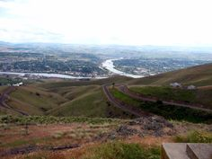 Lewiston Idaho Grade. Looking down on Lewiston and the Clearwater and the Snake Rivers