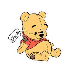 winnie the pooh Disney Amor, Arte Disney, Cute Disney Wallpaper, Cute Cartoon Wallpapers, Disney And More, Disney Love, Disney Drawings, Cute Drawings, Pooh Bebe