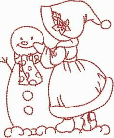 Merry Christmas Sunbonnet Girls