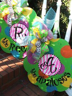Whimsically designed door decor  http://www.etsy.com/listing/92317810/hippity-hoppity-easter-bunny?utm_source=Pinterest&utm_medium=PageTools&utm_campaign=Share