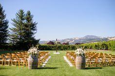Milestone Events Group || Trentadue Winery- ceremony area <3 #milestoneeventsgroup