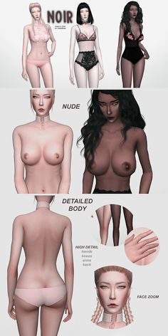Sims 4 CC's - The Best: Skin by tenebraenonmoriatur