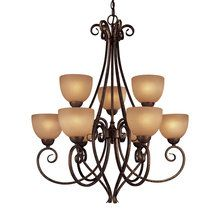 Possibility for foyer.  View the Minka Lavery ML 729 Tuscan 9 Light Up Lighting Chandelier from the Caspian Collection at LightingDirect.com.