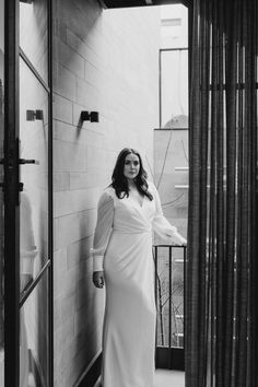 Nikki is a plus size casual simple wrap wedding dress with long sleeves. Could Nikki be 'the dress' for you? Try it on at a KWH boutique! Wrap Wedding Dress, Plus Wedding Dresses, Rembo Styling, Karen Willis Holmes, Plus Size Casual, Bridal Boutique, Beautiful Gowns, Dress For You, Spring Outfits
