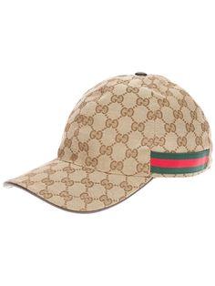 6f5cec82b1834 GUCCI - Beige Unisex Emblem Print Cap Gucci Hat