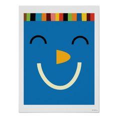 Big blue giggling face