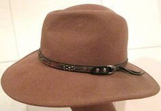 Vintage Taupe Wool Wester Hat by Golden Gate by MISSVINTAGE5000