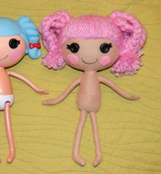 DIY Lalaloopsy doll from felt!