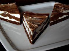cheesecake marmorat cu ciocolată
